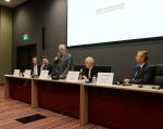 [размер: 755x600 пикселей; 54,2 кбайт]  18.09.13     НГТУ - организатор панельной дискуссии «Влияние энергетики на изменение и защиту климата в Сибирском регионе»  фотограф В. Невидимов